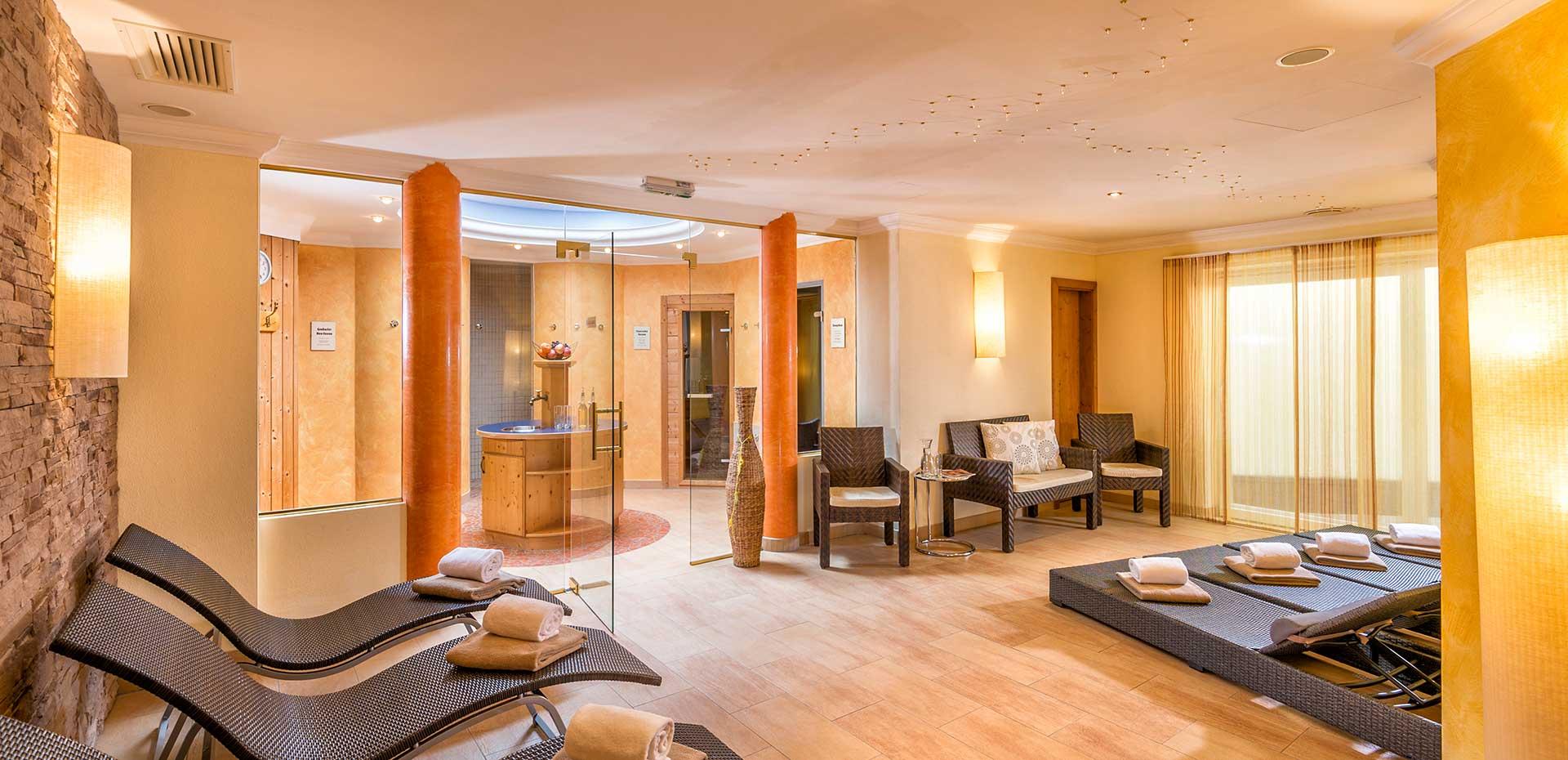 Wellnessbereich im 4 Sterne Hotel Alpenklang in Großarl