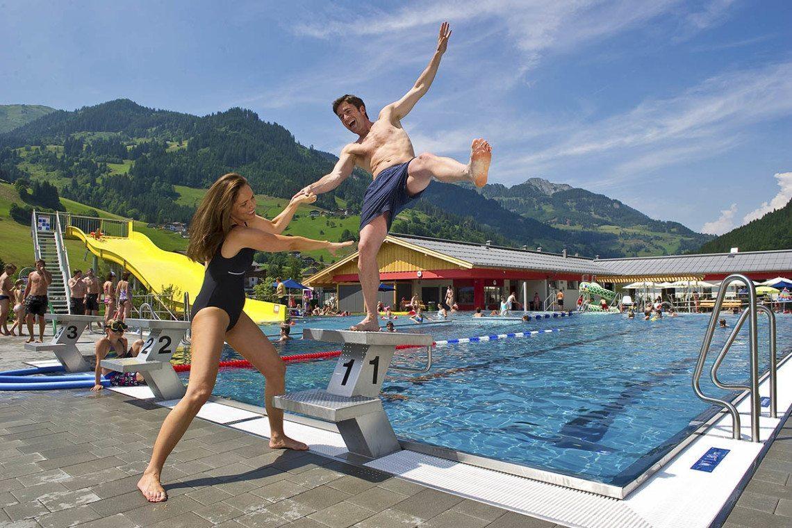 Schwimmen im Großarltal, Salzburger Land